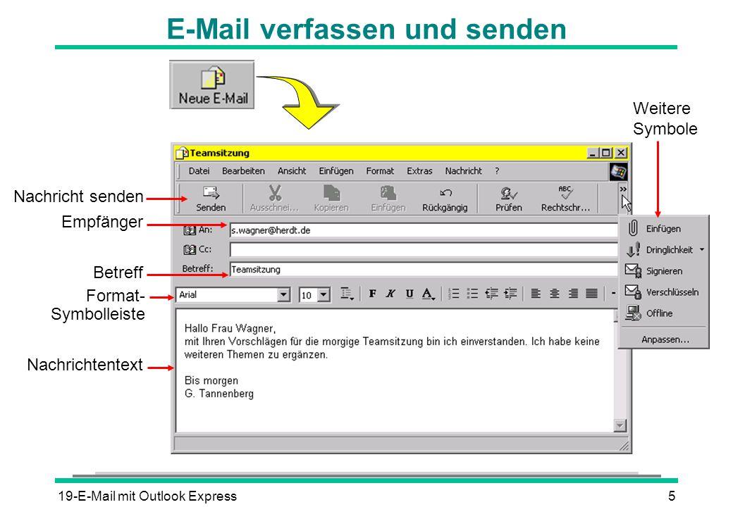 E-Mail verfassen und senden