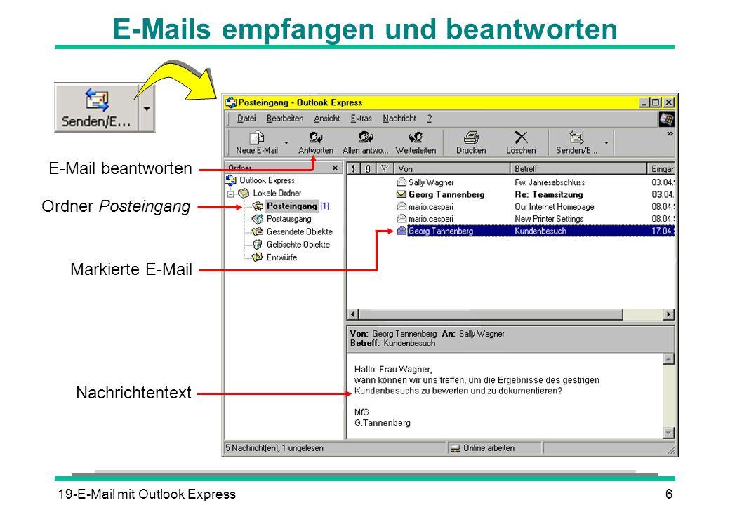 E-Mails empfangen und beantworten