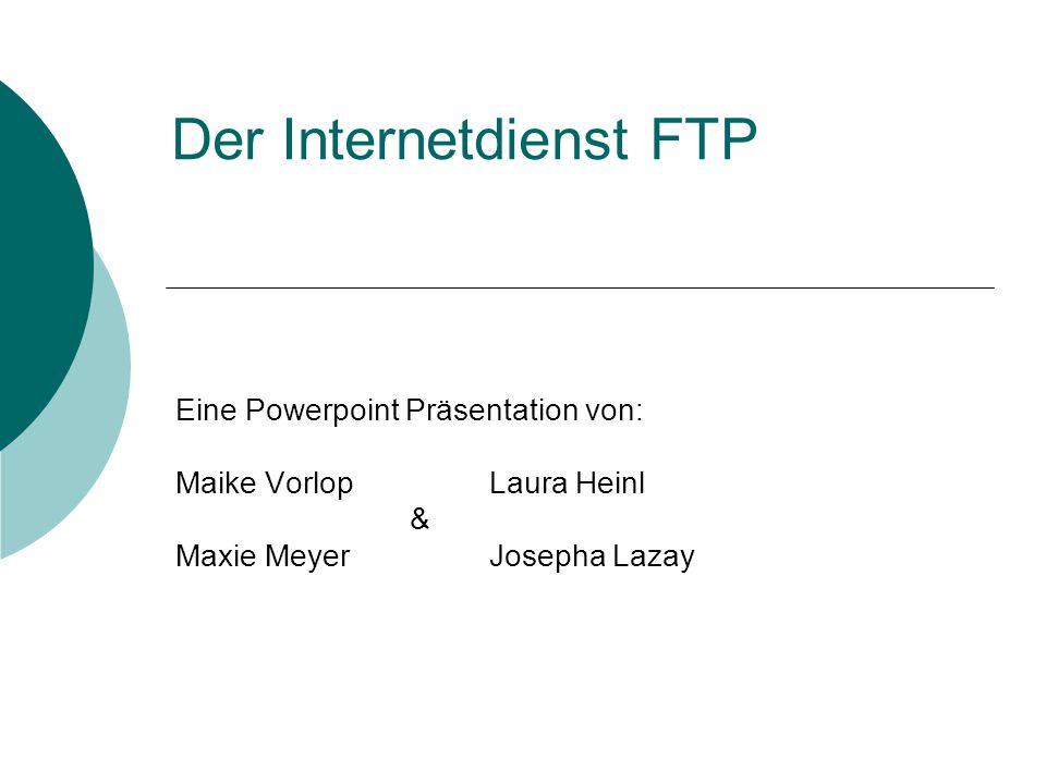 Der Internetdienst FTP