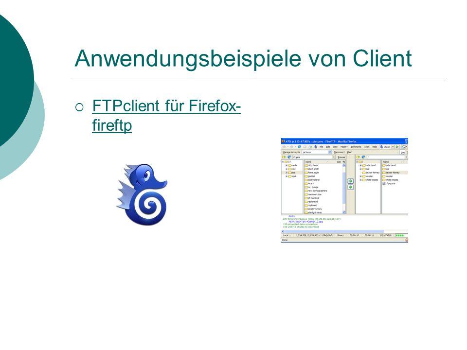 Anwendungsbeispiele von Client