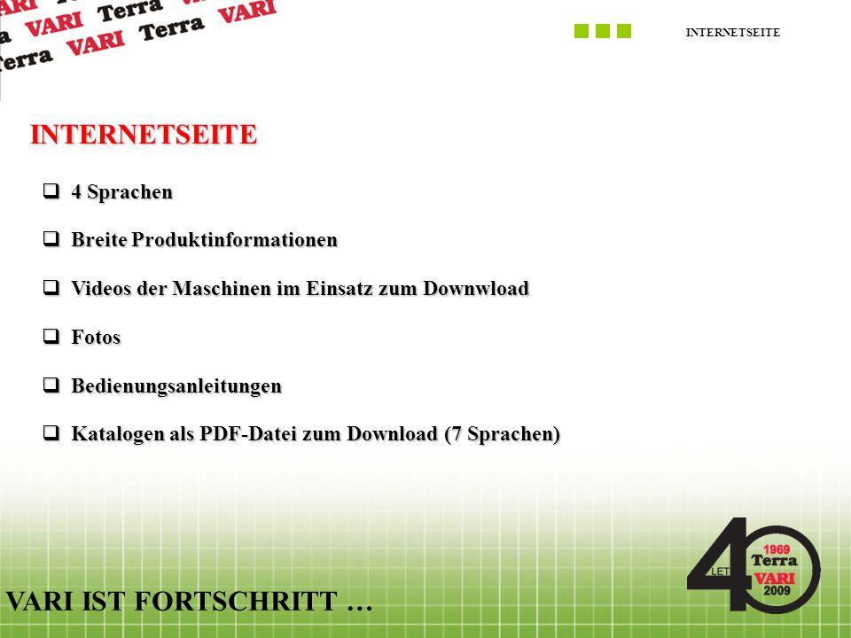 INTERNETSEITE VARI IST FORTSCHRITT … 4 Sprachen