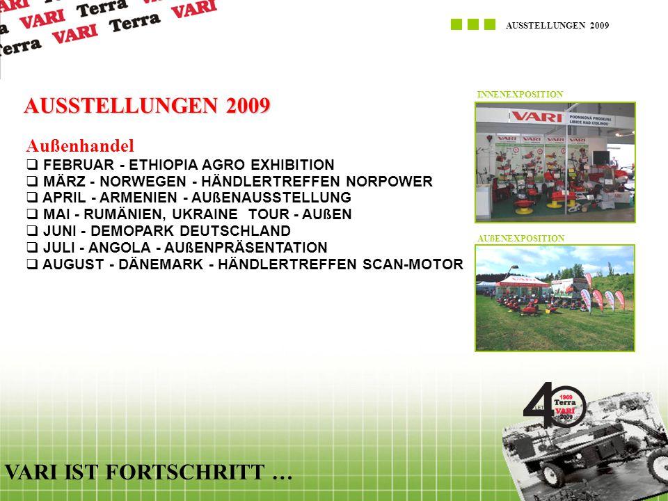 AUSSTELLUNGEN 2009 VARI IST FORTSCHRITT … Außenhandel