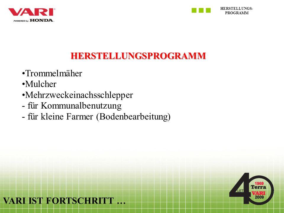 HERSTELLUNGS-PROGRAMM