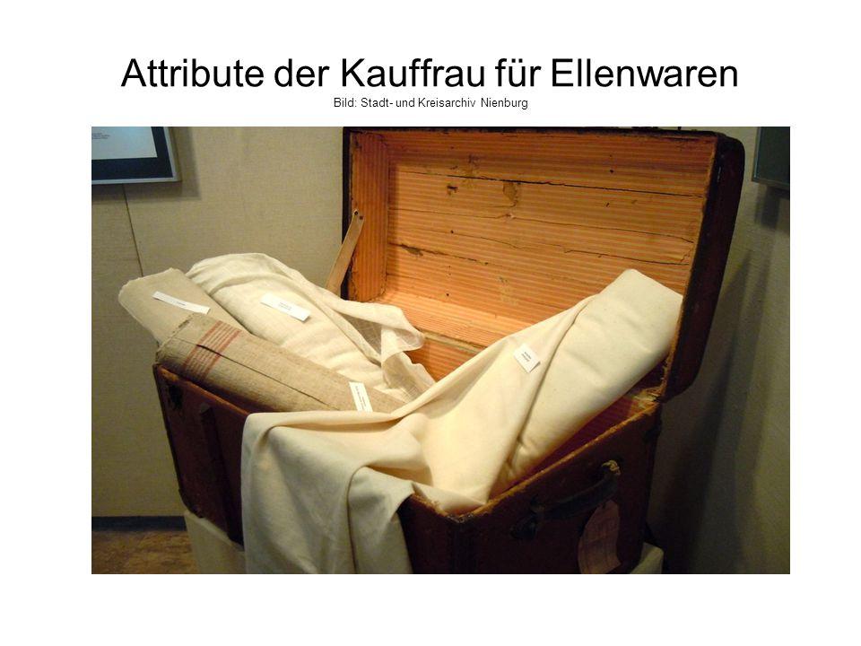 Attribute der Kauffrau für Ellenwaren Bild: Stadt- und Kreisarchiv Nienburg