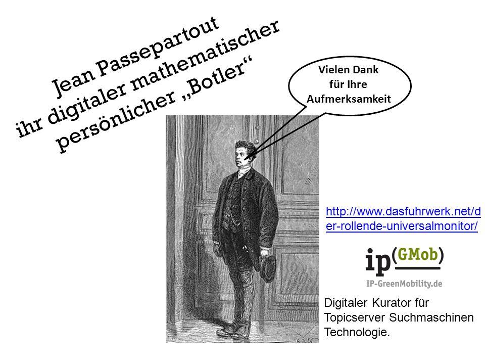 """Jean Passepartout ihr digitaler mathematischer persönlicher """"Botler"""