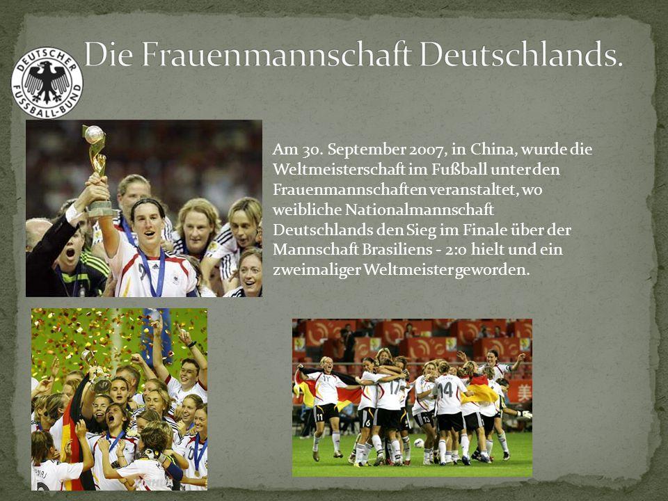 Die Frauenmannschaft Deutschlands.