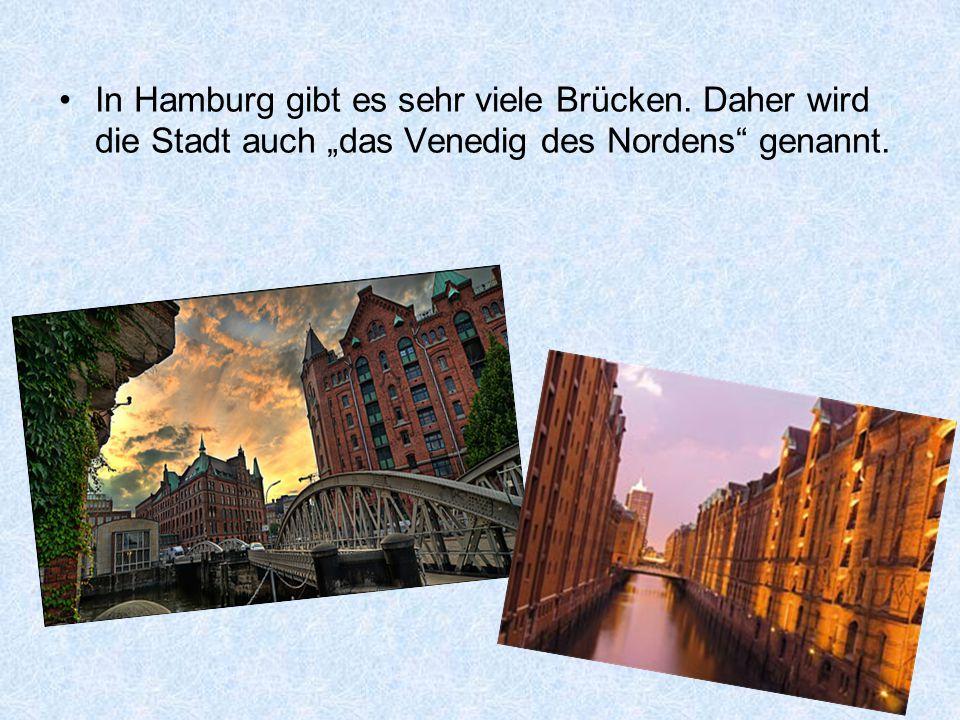 In Hamburg gibt es sehr viele Brücken