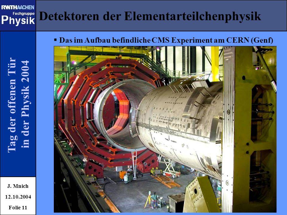 Detektoren der Elementarteilchenphysik