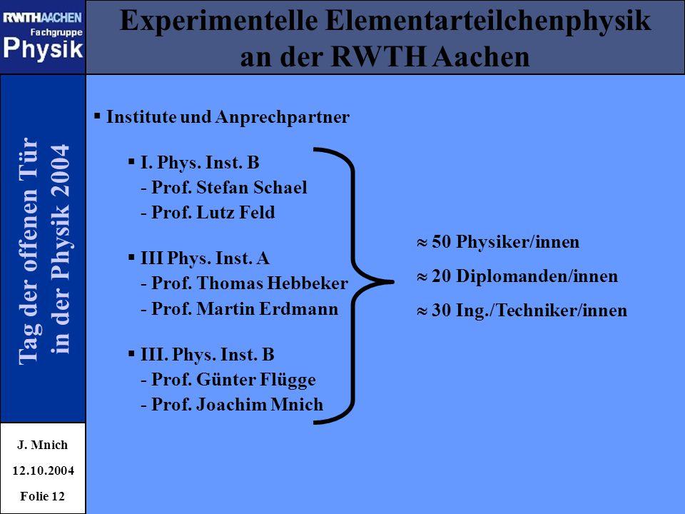 Experimentelle Elementarteilchenphysik
