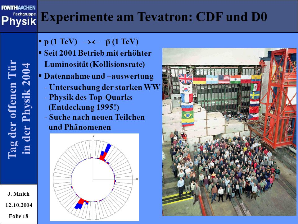 Experimente am Tevatron: CDF und D0