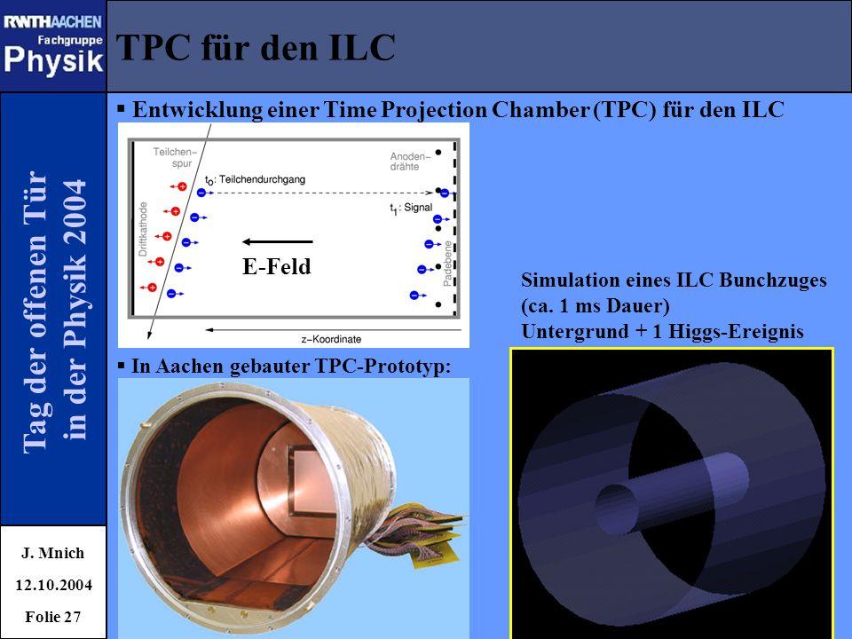 TPC für den ILC Tag der offenen Tür in der Physik 2004
