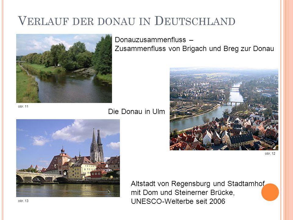 Verlauf der donau in Deutschland