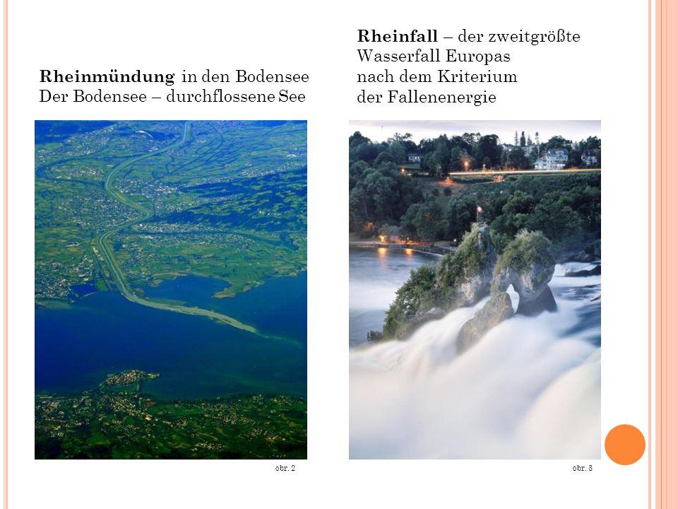 Rheinmündung in den Bodensee Der Bodensee – durchflossene See