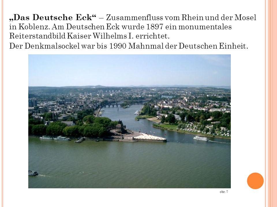 """""""Das Deutsche Eck – Zusammenfluss vom Rhein und der Mosel in Koblenz"""