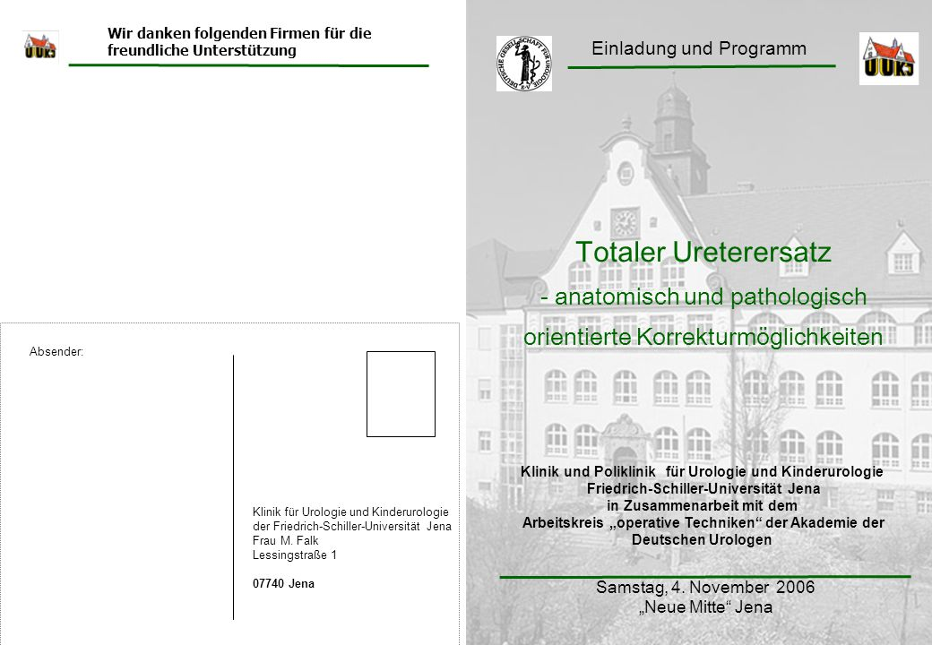 Totaler Ureterersatz - anatomisch und pathologisch
