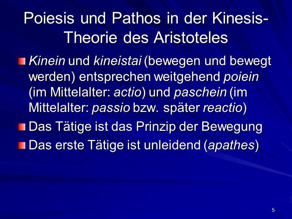 Poiesis und Pathos in der Kinesis-Theorie des Aristoteles