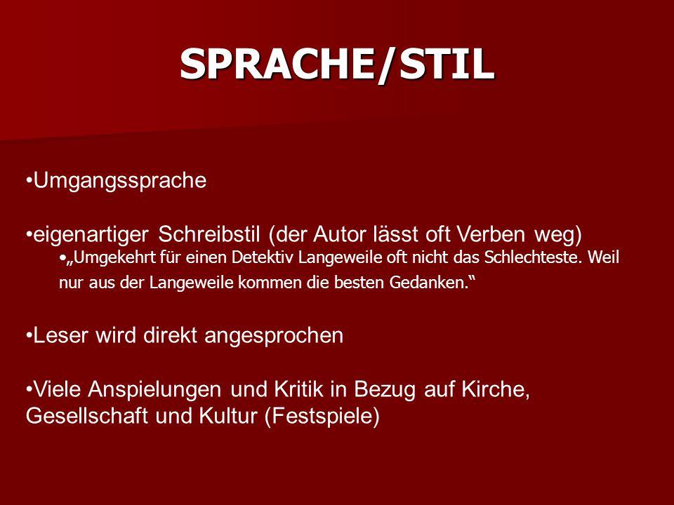 SPRACHE/STIL Umgangssprache