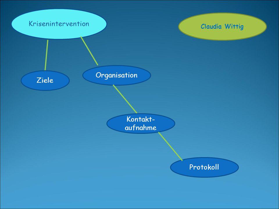 Krisenintervention Organisation Ziele Kontakt-aufnahme Protokoll