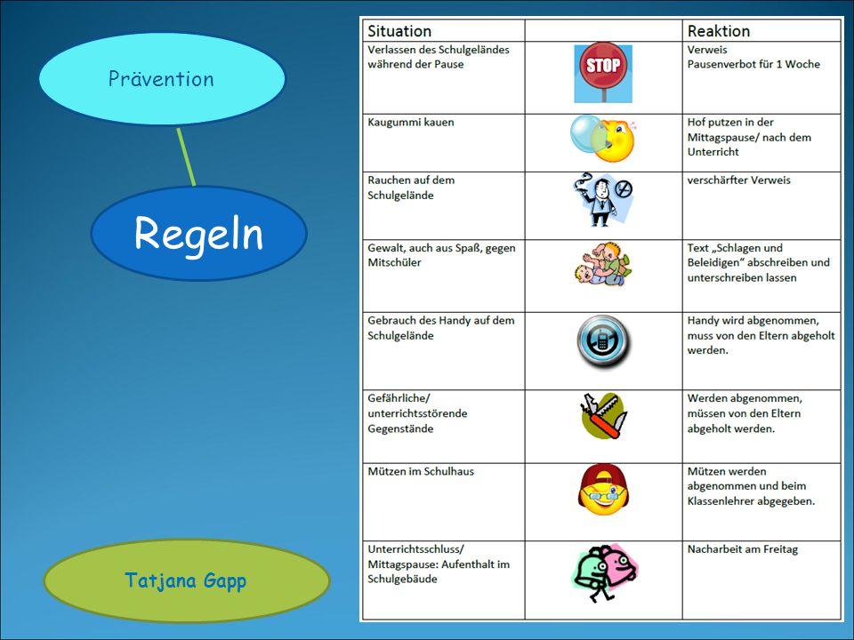Prävention Regeln Tatjana Gapp