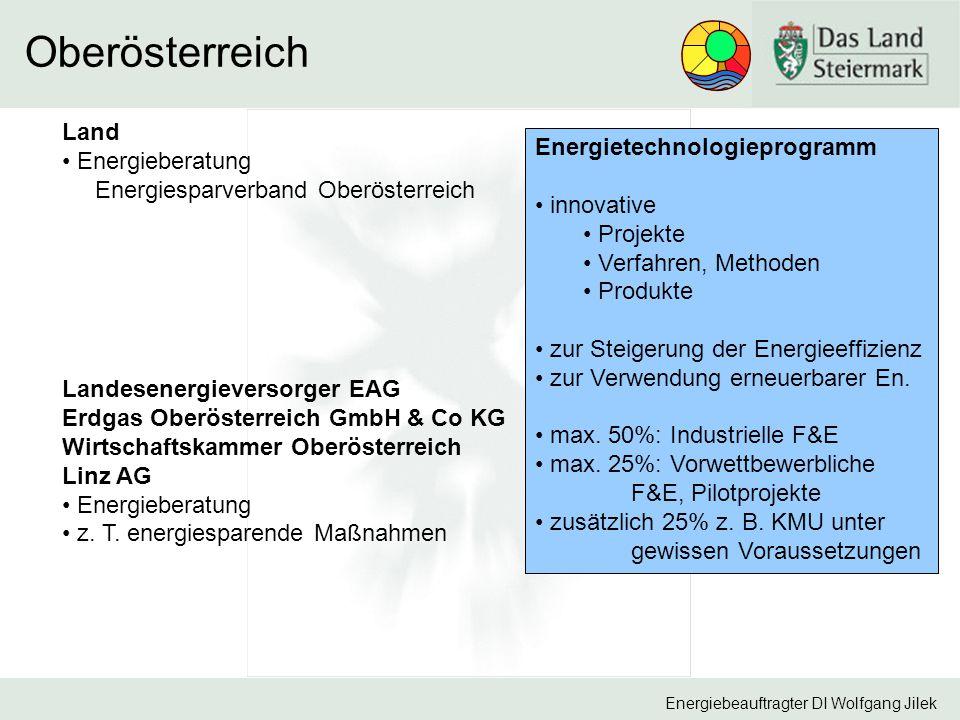 Oberösterreich Land Energieberatung Energietechnologieprogramm