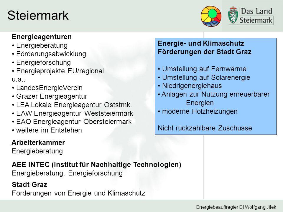 Steiermark Energieagenturen Energieberatung Energie- und Klimaschutz