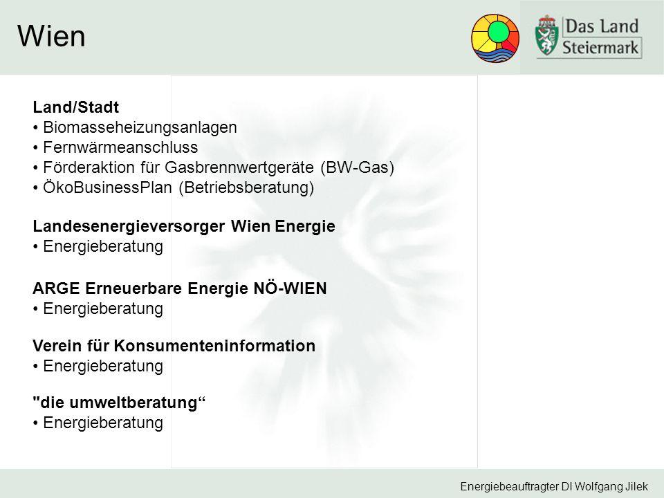 Wien Land/Stadt Biomasseheizungsanlagen Fernwärmeanschluss
