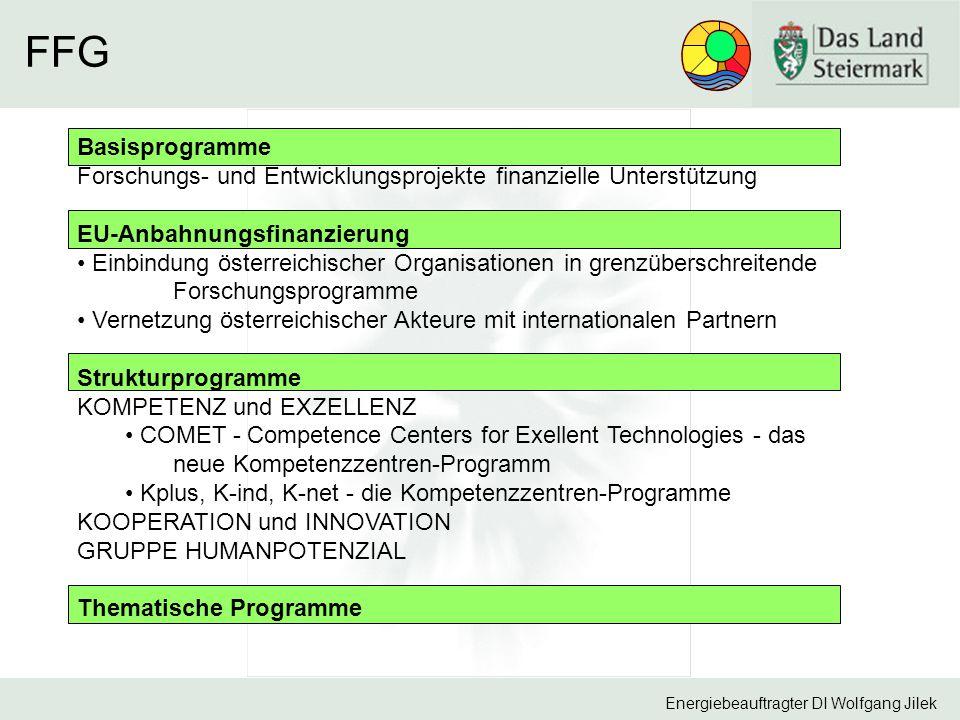 FFG Basisprogramme. Forschungs- und Entwicklungsprojekte finanzielle Unterstützung. EU-Anbahnungsfinanzierung.