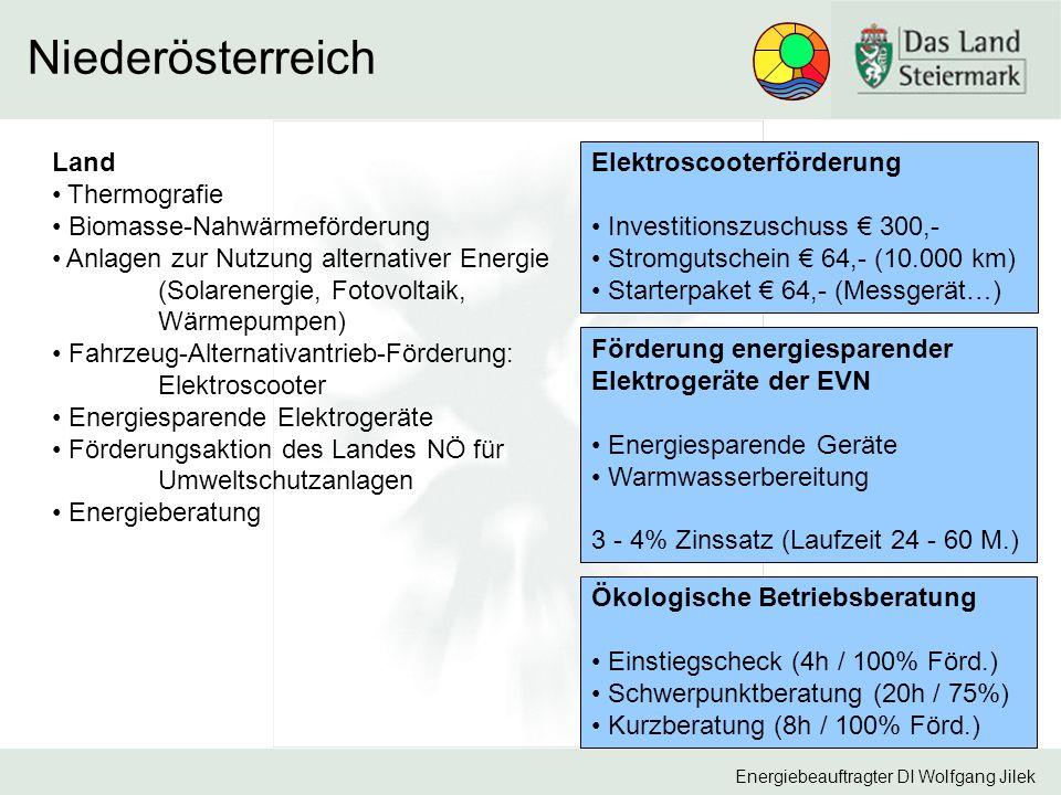 Niederösterreich Land Elektroscooterförderung Thermografie