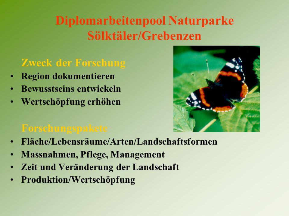 Diplomarbeitenpool Naturparke Sölktäler/Grebenzen