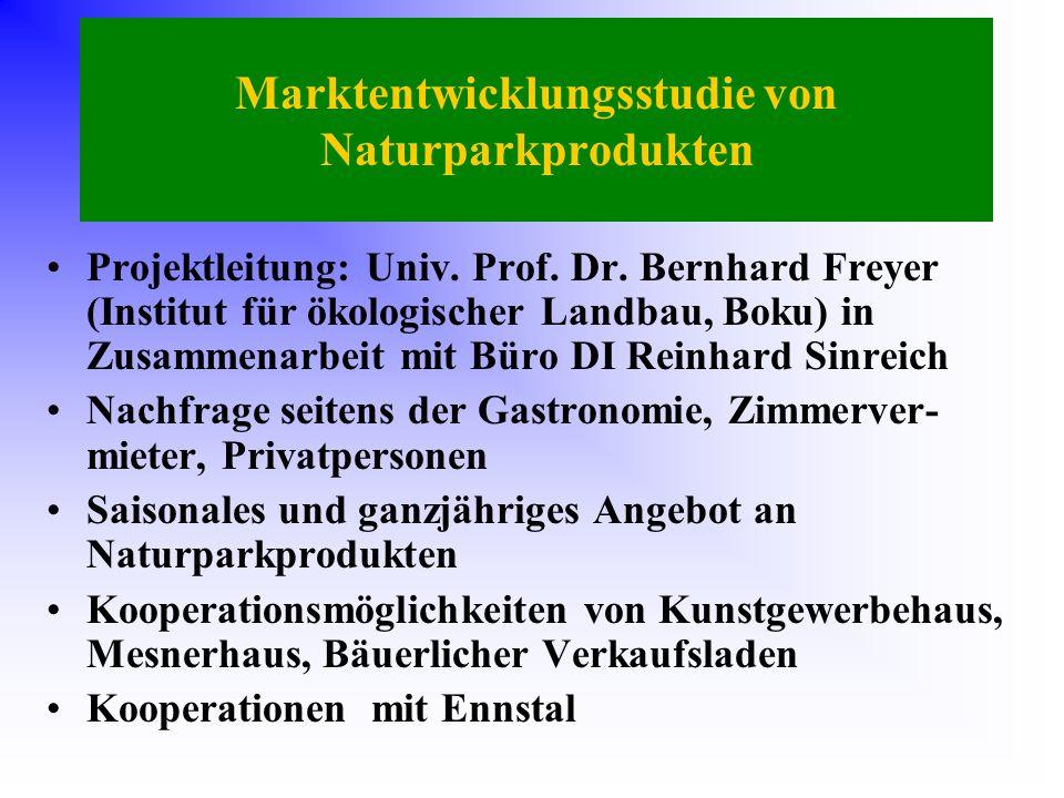 Marktentwicklungsstudie von Naturparkprodukten