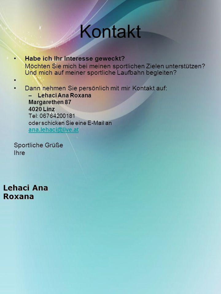 Kontakt Lehaci Ana Roxana Habe ich Ihr Interesse geweckt