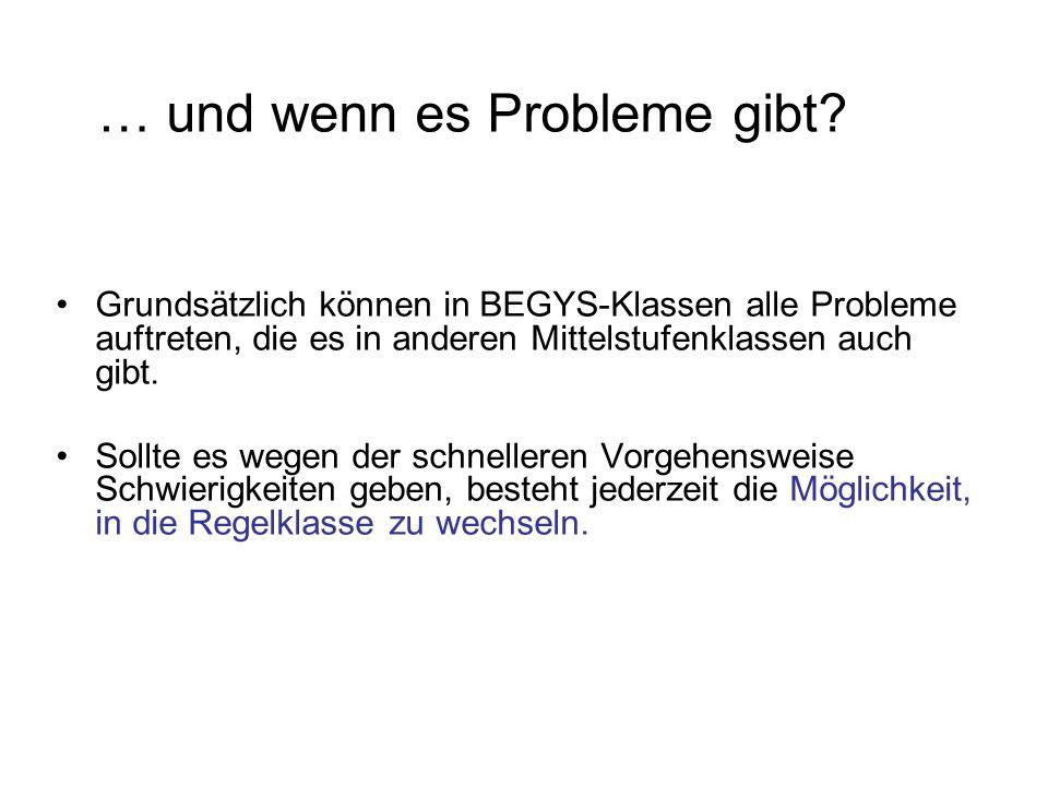 … und wenn es Probleme gibt