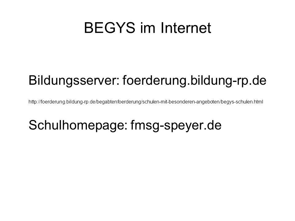 BEGYS im Internet Bildungsserver: foerderung.bildung-rp.de