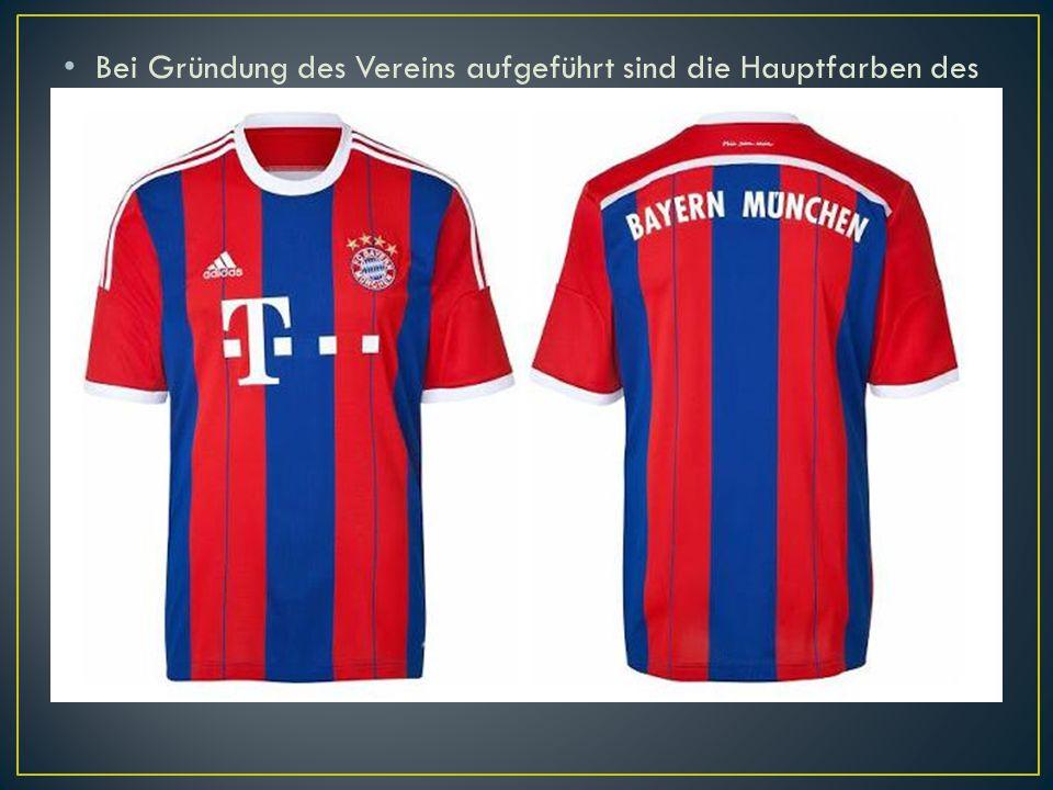 Bei Gründung des Vereins aufgeführt sind die Hauptfarben des FC Bayern, rot und blau, aber in weißen Hemden und schwarze Hosen bis 1905 spielte. Auch werden junge Spieler Bayern (Junioren) oft abwertend als rot-Shorts. Bayern ist vor allem in roten und weißen Kombination seines Bestehens in blau Kombination gespielt, aber manchmal. In der Spielzeit 1969/70., Bayern Hemd war blau und weiß, und die Hosen und Socken auch blau. Ein ähnlicher Stil Trikot erschien 1995, als zum ersten Mal Blau die dominierende Farbe. Seit 1998 trägt das Team seine ursprüngliche Farbe.