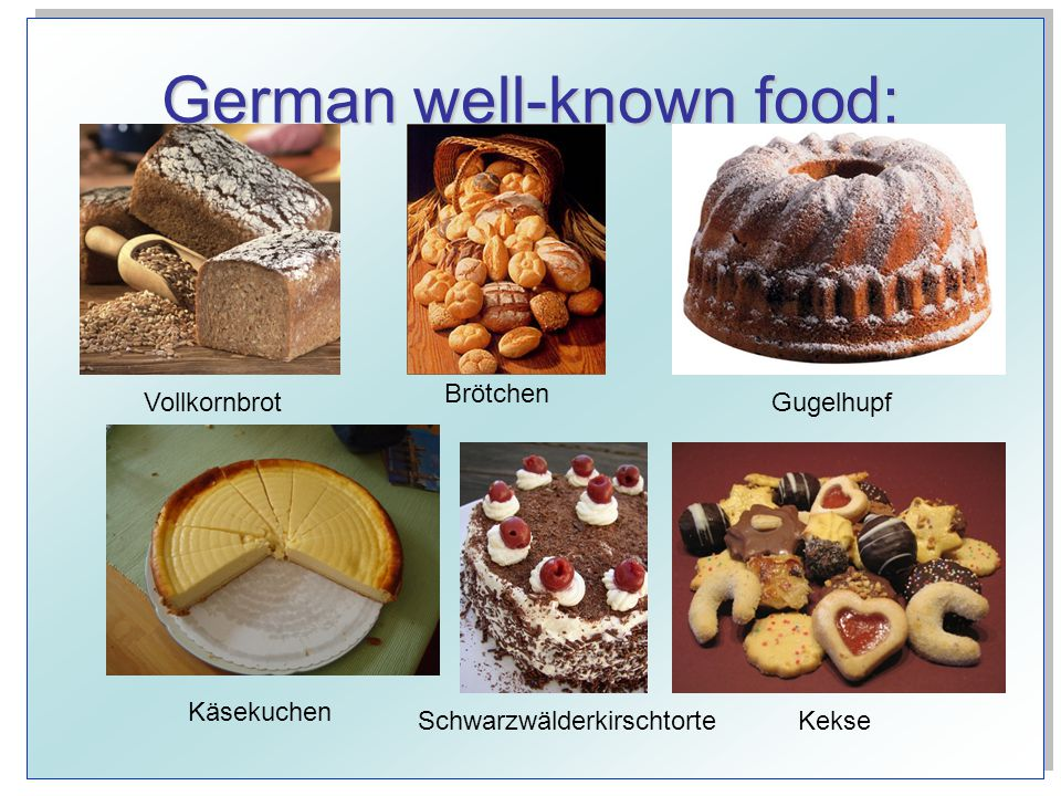 German well-known food: