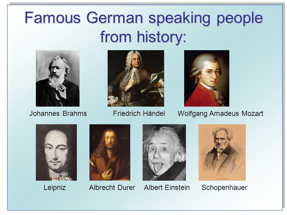 Famous German speaking people from history: