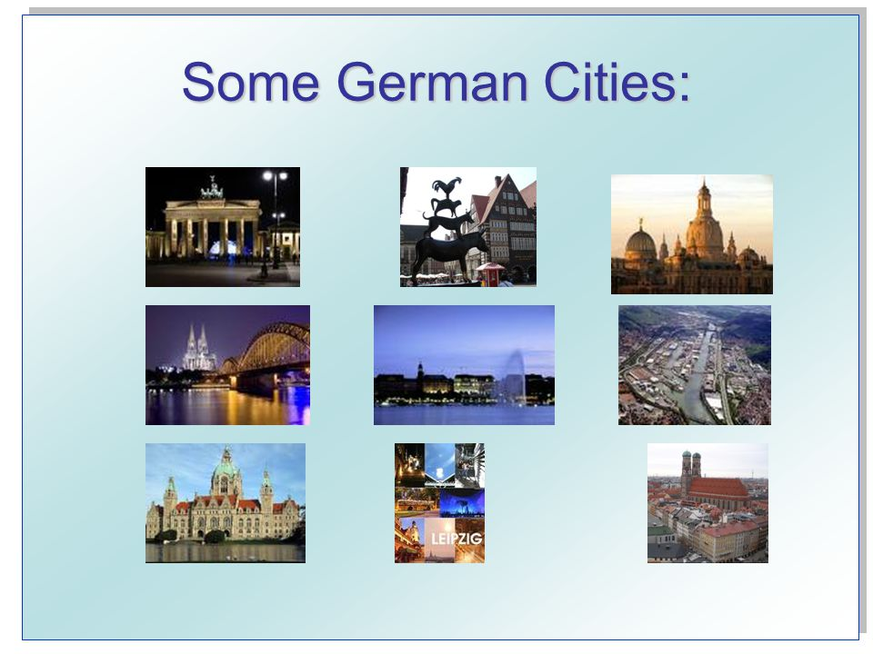 Some German Cities: