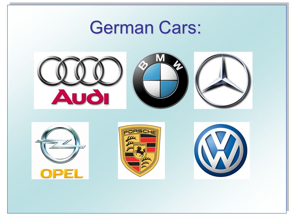 German Cars: