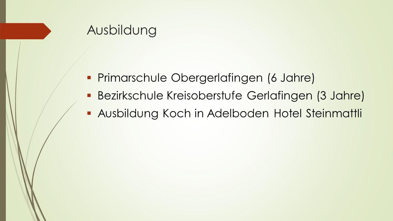 Ausbildung Primarschule Obergerlafingen (6 Jahre)