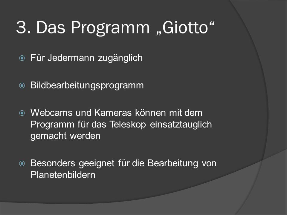 """3. Das Programm """"Giotto Für Jedermann zugänglich"""