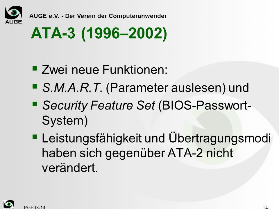 ATA-3 (1996–2002) Zwei neue Funktionen: