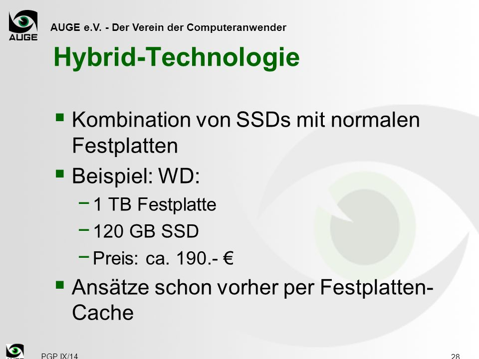 Hybrid-Technologie Kombination von SSDs mit normalen Festplatten