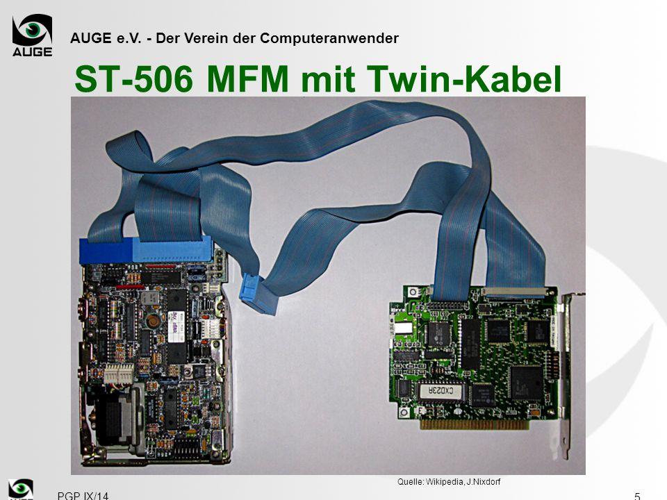 ST-506 MFM mit Twin-Kabel Quelle: Wikipedia, J.Nixdorf PGP IX/14