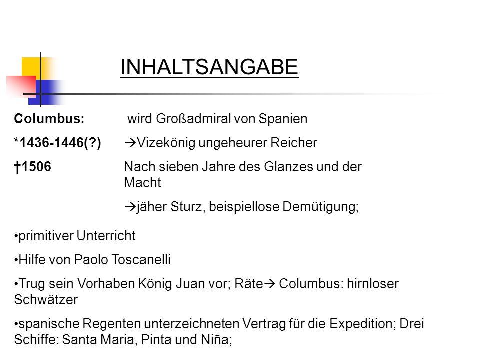 INHALTSANGABE Columbus: *1436-1446( ) †1506