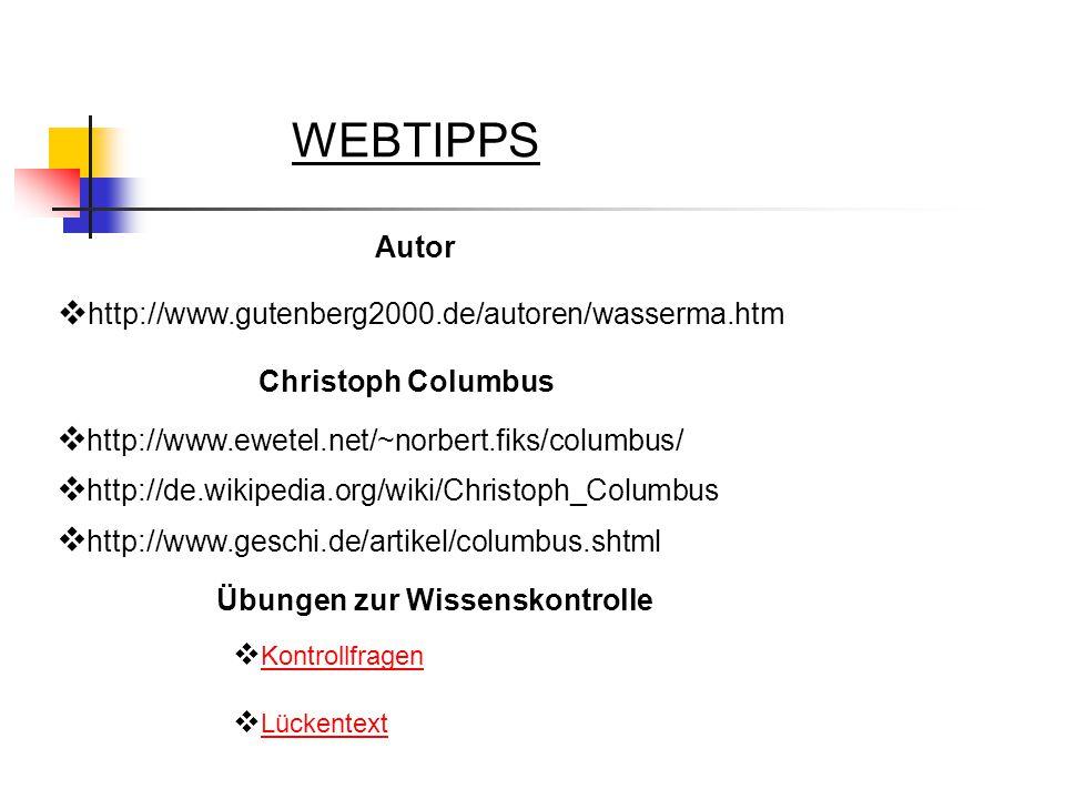 WEBTIPPS Autor http://www.gutenberg2000.de/autoren/wasserma.htm