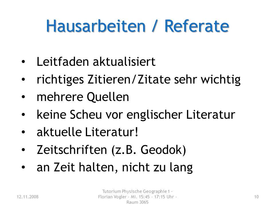 Hausarbeiten / Referate