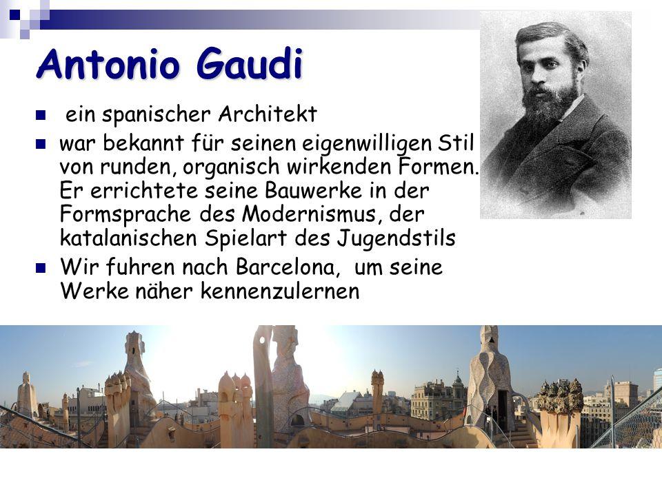 Antonio Gaudi ein spanischer Architekt