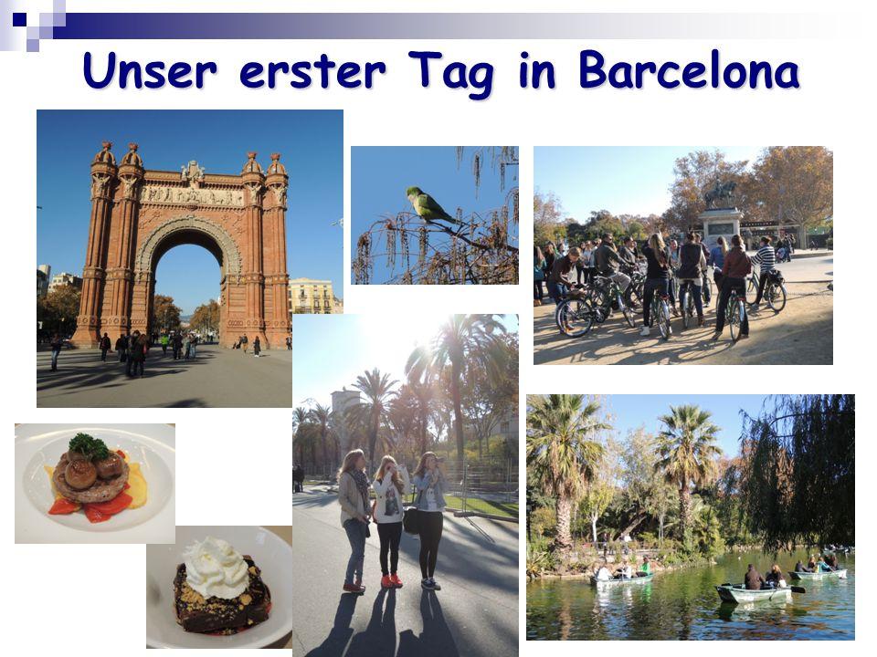 Unser erster Tag in Barcelona