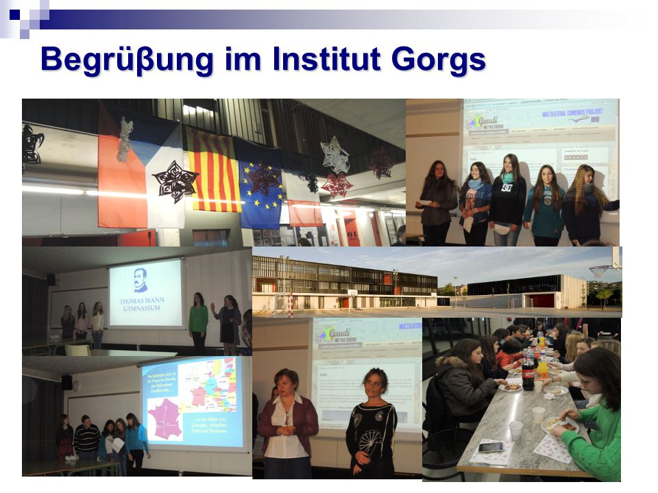 Begrüβung im Institut Gorgs