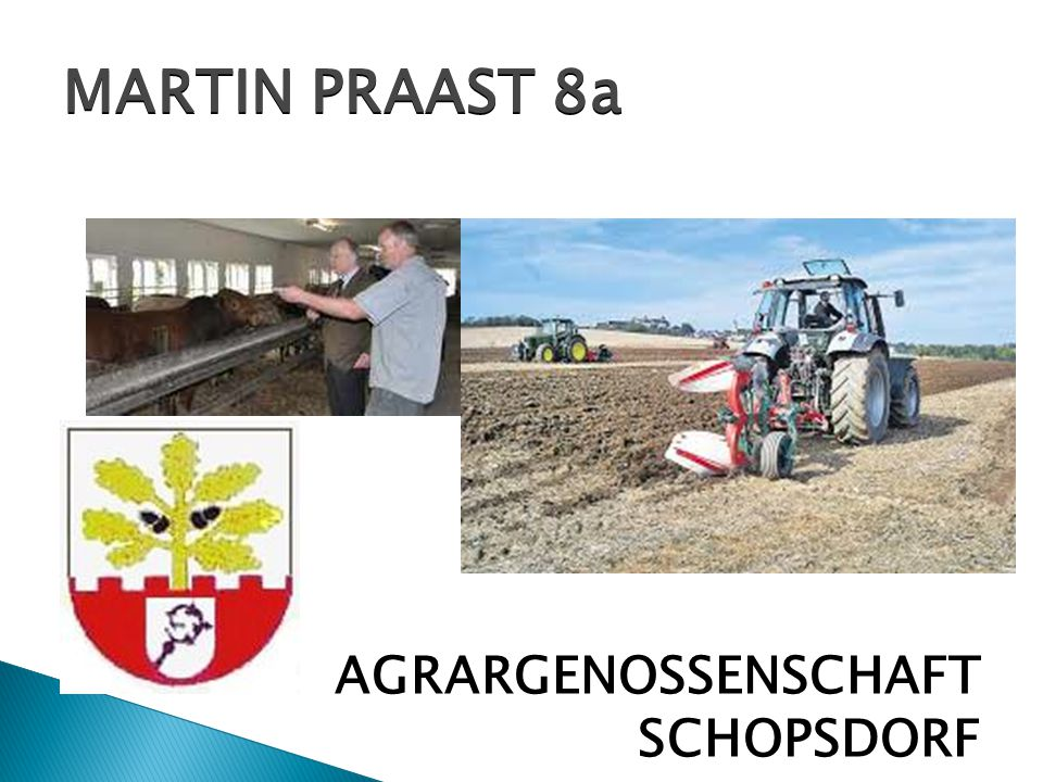 MARTIN PRAAST 8a AGRARGENOSSENSCHAFT SCHOPSDORF 15